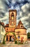 The tower of the castle (La tour du chateau) in Wasselonne. Alsace, France stock photo
