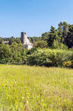 Tower of castle of Lagrasse Royalty Free Stock Image