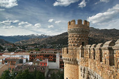 Tower in castle Manzanares el Real - Spain Royalty Free Stock Image