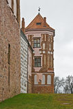 Tower of the castle in Mir Royalty Free Stock Image