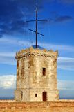 Tower of Castle of Montjuic, Barcelona, Spain Royalty Free Stock Images