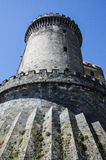 tower of Castle Nouvo in Naples, Italy. Royalty Free Stock Photography