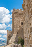 Tower of the castle. One of the towers in old castle in Crimea, Ukraine Stock Image