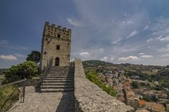 Tower of the castle of Roccascalegna royalty free stock photos