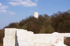 Tower castle ruins in Kazimierz Dolny, Poland Royalty Free Stock Photos