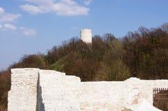 Tower castle ruins in Kazimierz Dolny, Poland Royalty Free Stock Photos