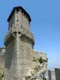 Tower of castle in San-Marino. Tower of castle on the top of rock in San-Marino Stock Photos