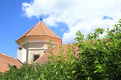 Tower of castle in Telc Stock Photography