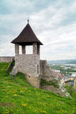 A tower of the castle in Trencin Stock Images