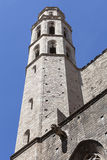 Tower of Catalan Gothic church Santa Maria del Mar, Barcelona, Spain Royalty Free Stock Photo