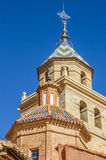 Tower of the cathedral in Albarracin Royalty Free Stock Image