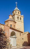 Tower of the cathedral in Albarracin Stock Images
