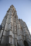Tower of the cathedral in Antwerp Stock Image