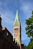 Tower of the Cathedral in Augsburg, Germany Royalty Free Stock Images
