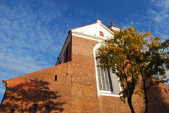 Tower of Cathedral Basilica. Tower of Kaunas Cathedral Basilica. Travel Lithuania, Europe stock photo
