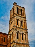 Tower cathedral bell ferrara italy. Tower of cathedral bell ferrara italy royalty free stock image