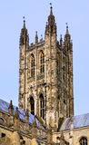 Tower of Cathedral of Canterbury. The tower of the cathedral of Canterbury , one of the largest churches of England Stock Photo