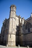 Tower of cathedral in Carcassonne Stock Image