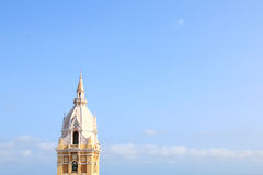 Tower of the the cathedral in Cartagena, Colombia Stock Images