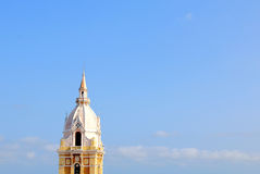 Tower of the the cathedral in Cartagena, Colombia Royalty Free Stock Photography