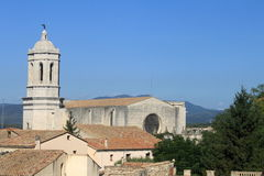 Tower of cathedral in Girona Royalty Free Stock Image
