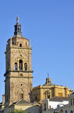 Tower of the Cathedral of Guadix Stock Photos