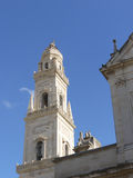 The tower of the Cathedral of Lecce in Italy Stock Photography