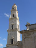 The tower of the Cathedral of Lecce in Italy Stock Images