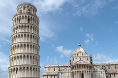 Tower and Cathedral in Pisa Royalty Free Stock Photo