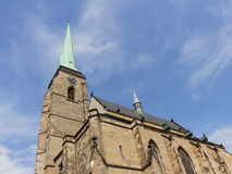 Tower of Cathedral of Saint Bartholomew Stock Photography