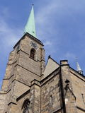 Tower of Cathedral of Saint Bartholomew Royalty Free Stock Photos