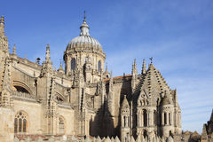 Tower of Cathedral in Salamanca in Spain Stock Photos