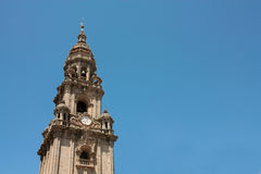 Tower of Cathedral - Santiago de Compostela, Spain Royalty Free Stock Image