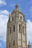 Tower of the cathedral of Segovia. Detail of the tower of the Cathedral of Segovia. Spanish landmark Stock Photo