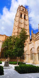 Tower of Cathedral, Segovia stock image