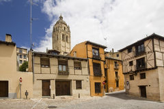 Tower of the Cathedral of Segovia Stock Photos