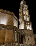 Tower of Cathedral of St Domnius in Split, Croatia. Tower of Cathedral of St. Domnius in the Old Town of Split, Croatia Royalty Free Stock Photography