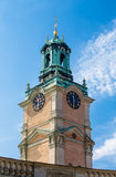 The tower of the Cathedral of St. Nicholas in Stockholm Royalty Free Stock Photography
