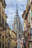 Tower of the Cathedral of Toledo Royalty Free Stock Photo