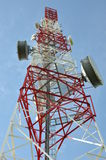 Tower with cell phone antenna system Stock Images
