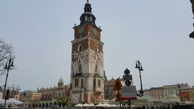 Tower in the centre of Krakow Stock Photo