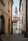 Tower of Ceske Krusovice castle, Czech Republic Royalty Free Stock Photo