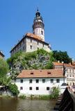 Tower of the Cesky Krumlov Castle Royalty Free Stock Photos