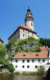 Tower of the Cesky Krumlov Castle Stock Images