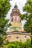 Tower of Cesky Krumlov Castle,Czech Republic Stock Images
