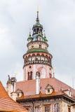 Tower of Cesky Krumlov Castle,Czech Republic Stock Photos