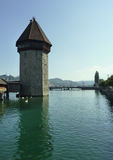 Tower of Chapel Bridge.  Lucerne, Switzerland Royalty Free Stock Photos