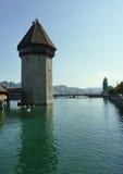 Tower of Chapel Bridge.  Lucerne, Switzerland Royalty Free Stock Photos