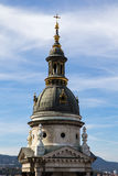 Tower of the chapel of St. Stephen's Cathedral in Budapest Hungary. Tower of the chapel of St. Stephen's Cathedral in Budapest Hungary Royalty Free Stock Image