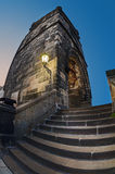 Tower on Charles Bridge in Prague early in the morning at sunris Royalty Free Stock Photography
